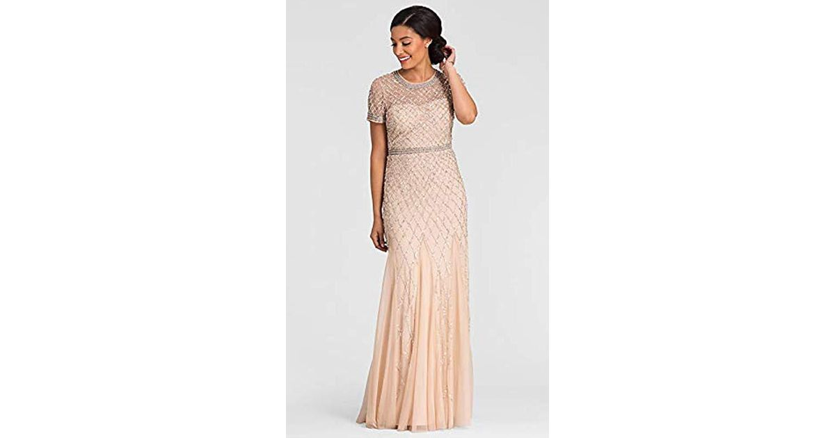 4d24a8a7863c Lyst - Adrianna Papell Illusion Neckline Lace Dress - Save 60%