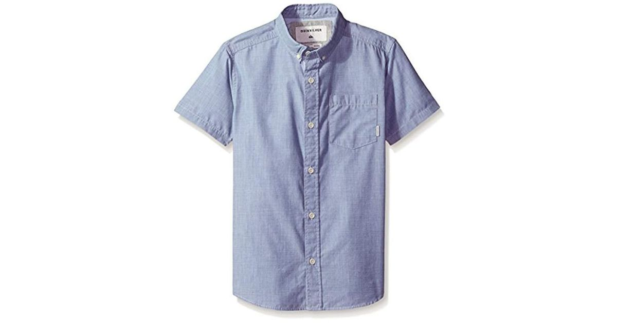 Quiksilver Boys Everyday Wilsden Ss Youth Woven Top