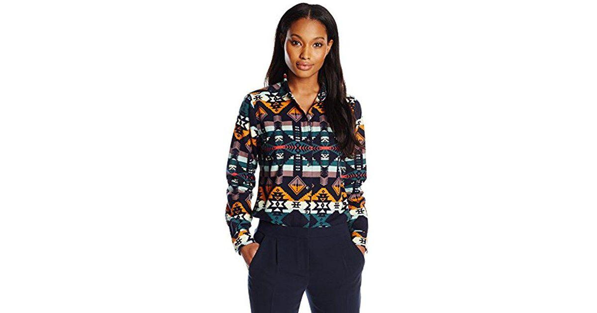 41281962 Woolrich Keystone Printed Chaomis Shirt in Blue - Lyst