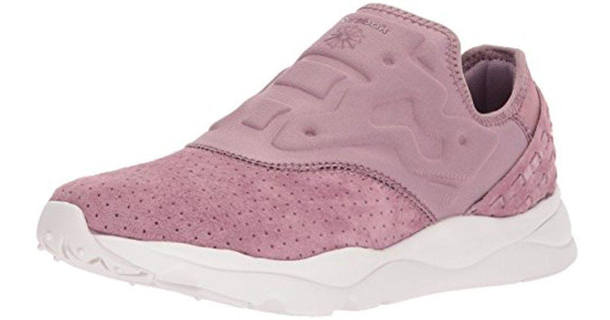 3c83b5dd949cba Lyst - Reebok Furylite Slip On Fbt Track Shoe in Purple for Men