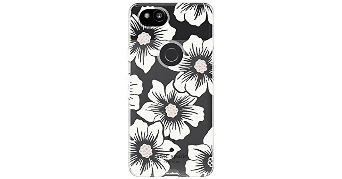 b10002905 Kate Spade Flexible Hardshell Case For Google Pixel 2 - Multi Hollyhock  Floral Clear/cream With Stones - Lyst