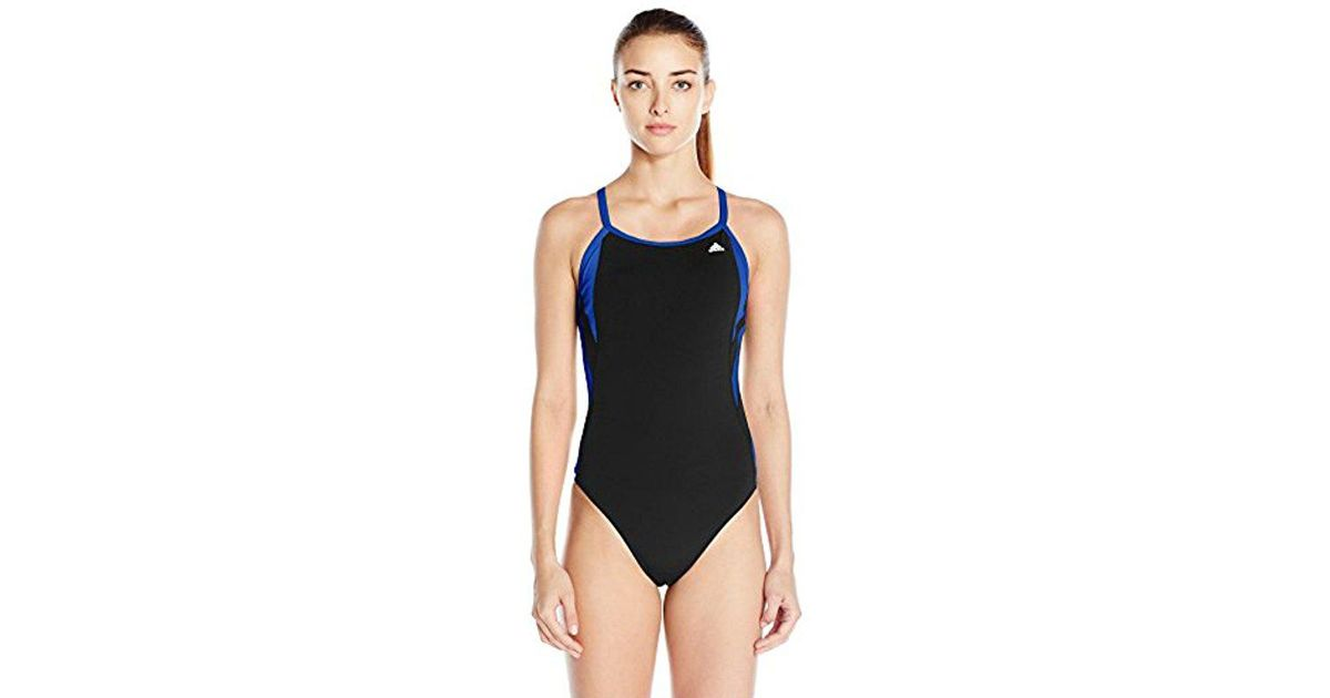5f25692322a09 Adidas - Blue Event Vortex-back Active Sporty One Piece Swimsuit - Lyst