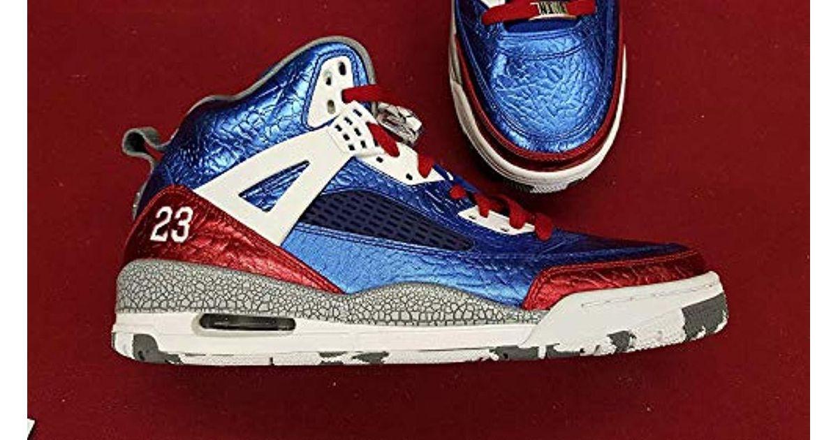 the latest 5afcf 0d399 Nike Air Jordan Rare Deadstock 4 5 6 Spizike (metallic/blue/red) Size 10  for men