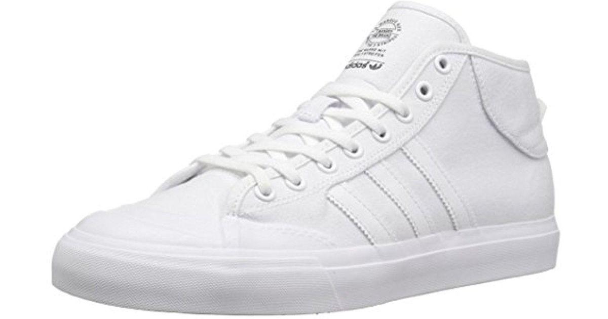 Adidas White Matchcourt Mid Skate Shoe for men