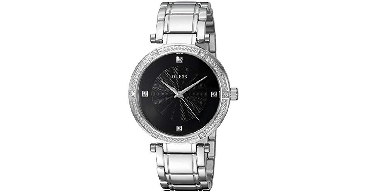 Metallic Steel Guess Stainless Diamond Tonemodel u0695l1 Dress WatchColorSilver SULVqpzMG