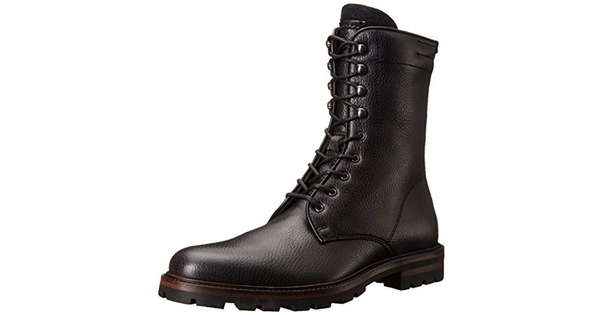 a625ed6bc1093 Aquatalia Black Aquatalia Justin Combat Boot for men