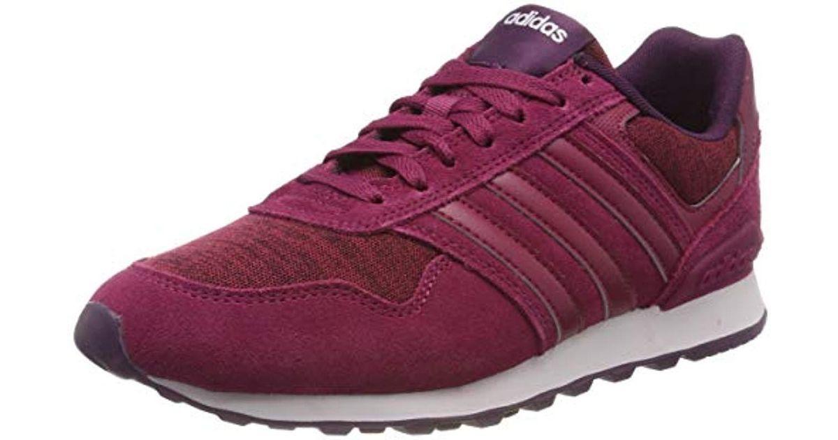 Adidas Purple Neo 10k W Low top Sneakers, Multicolour (rubmisrubmisbalcri), 8 Uk (42 Eu)