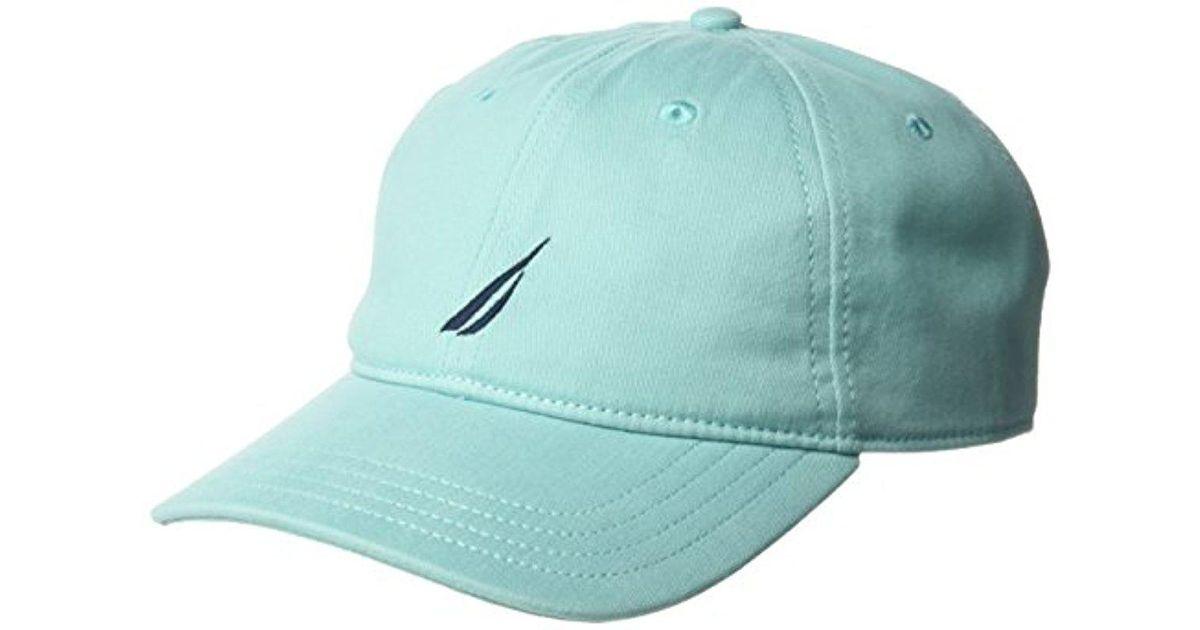 044ffe9821fce0 Lyst - Nautica Classic Logo Adjustable Baseball Cap Hat in Blue for Men