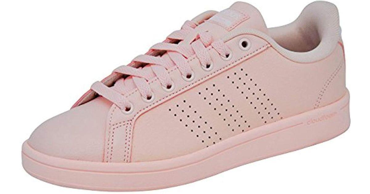 Adidas Pink Cloudfoam Advantage Clean W Fashion Sneaker