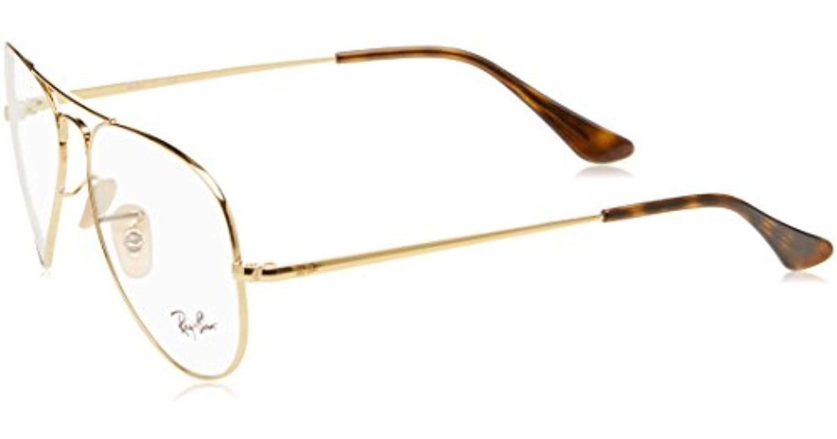 a4e2bef53d Ray-Ban Rx6489 Glasses In Gold Rx6489 2500 58 in Metallic - Lyst