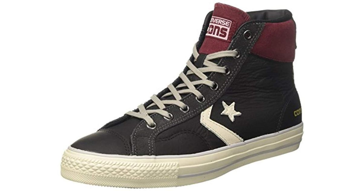 Converse Black Star Player Suede Distressed Hi top Trainers for men