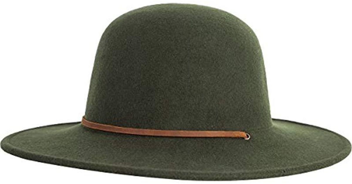 Lyst - Brixton Tiller Wide Brim Felt Fedora Hat in Green for Men 29248e5d652