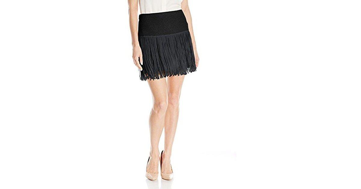 Ella Moss Womens Kalea Fringe Skirt
