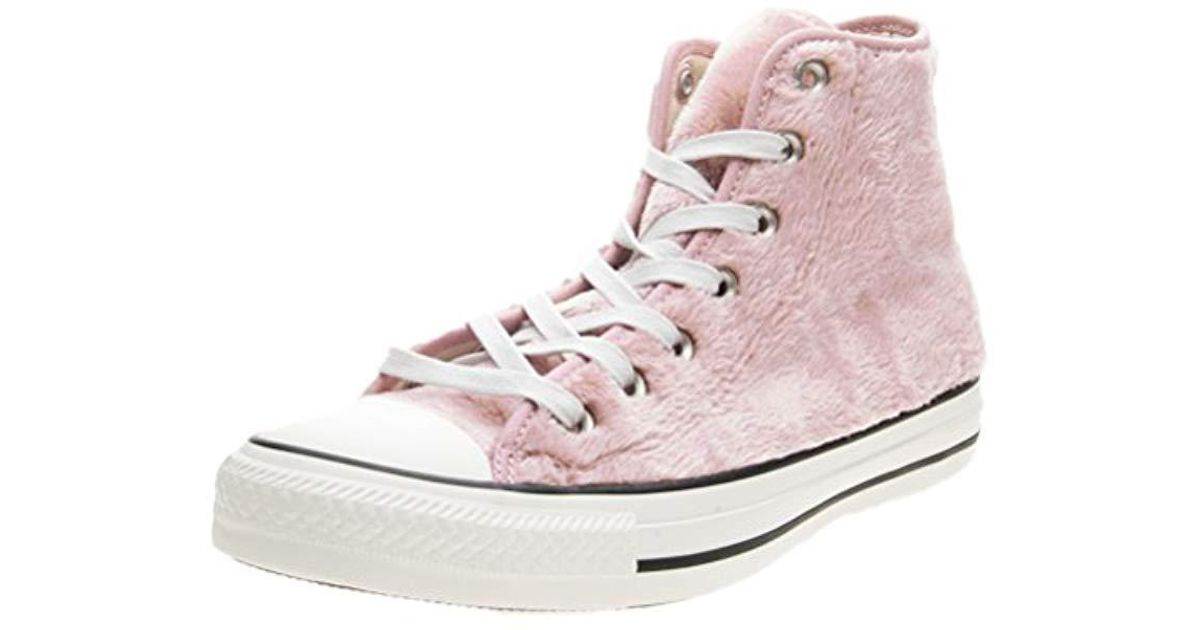 Converse Sneakers Pelliccia Rosa Ct As Hi Faux Fur Alta Pelo ...