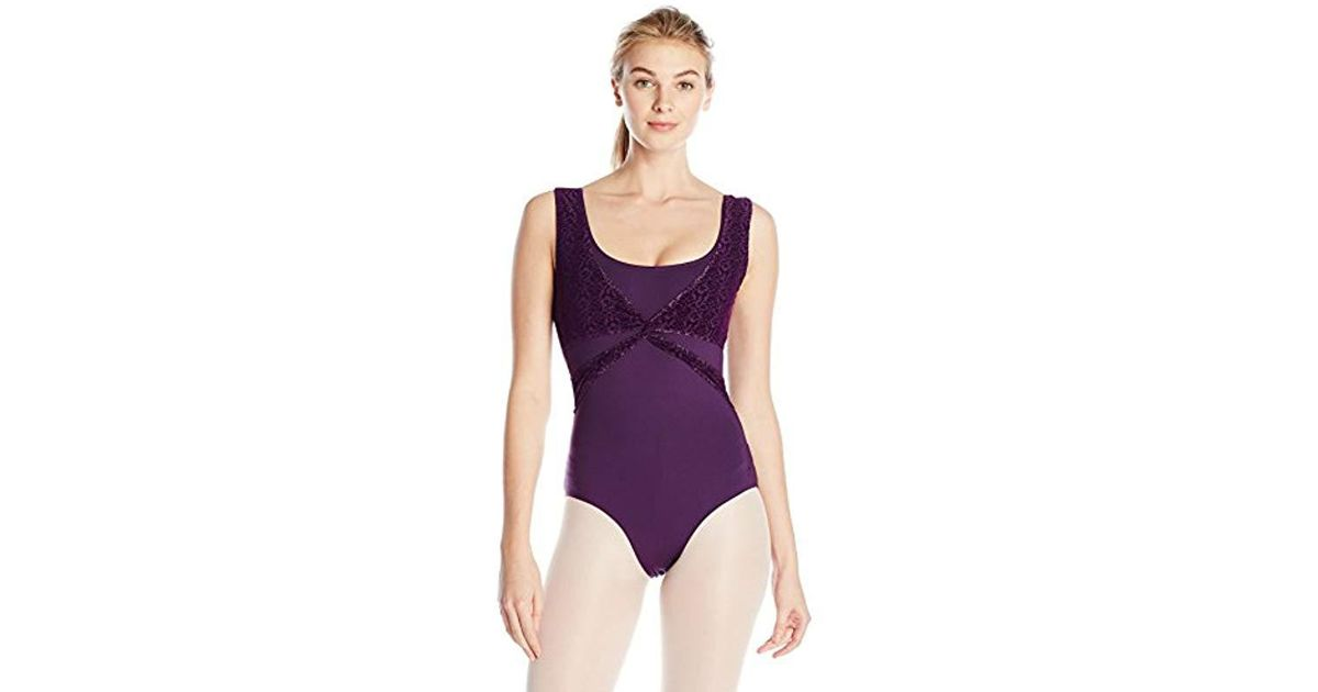 3c959e1630e61 Danskin Purple Nycb Wrap Top Leotard