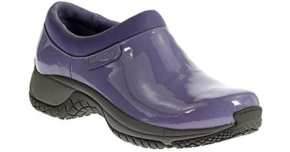 0b8830b8 Merrell Purple Encore Moc Pro Shine Slip-resistant Work Shoe