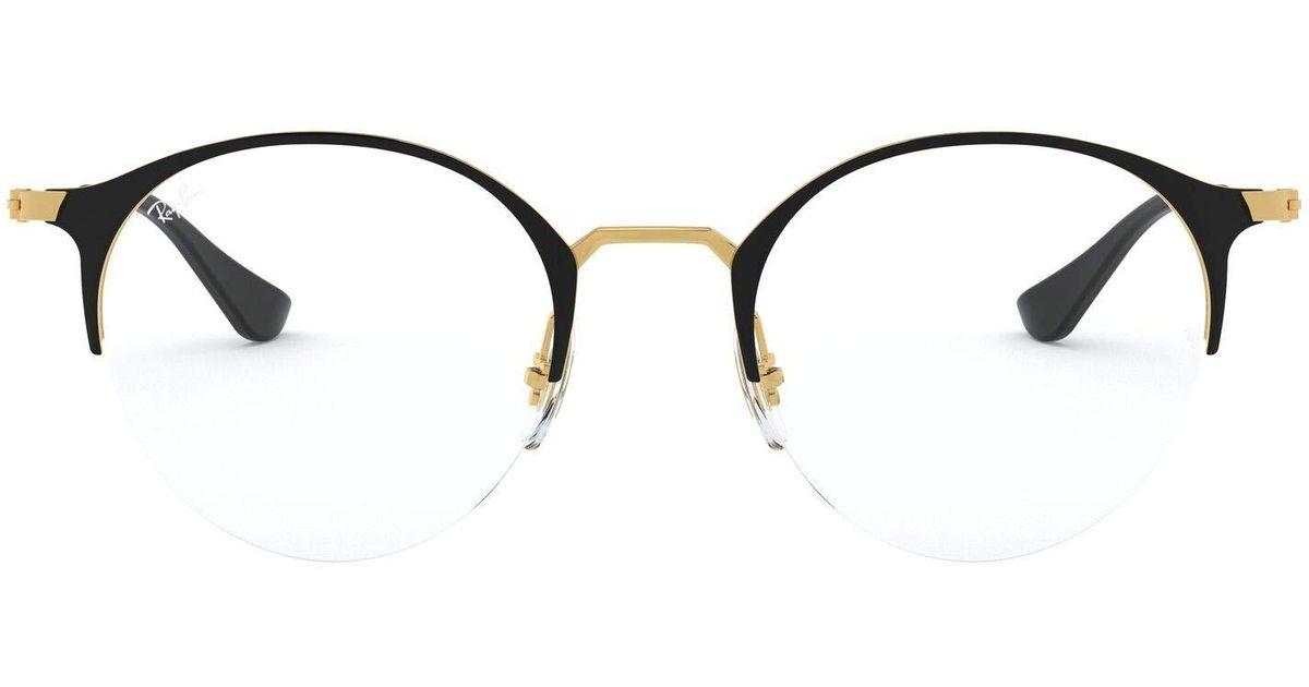 0rx 3578v 2890 48 Monturas de gafas Ray Ban de color Negro