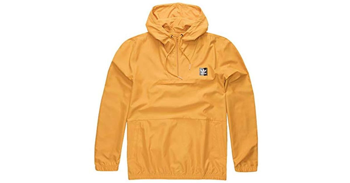 0fb74df2f adidas Originals Skateboarding Hip Packable Jacket in Yellow for Men - Lyst