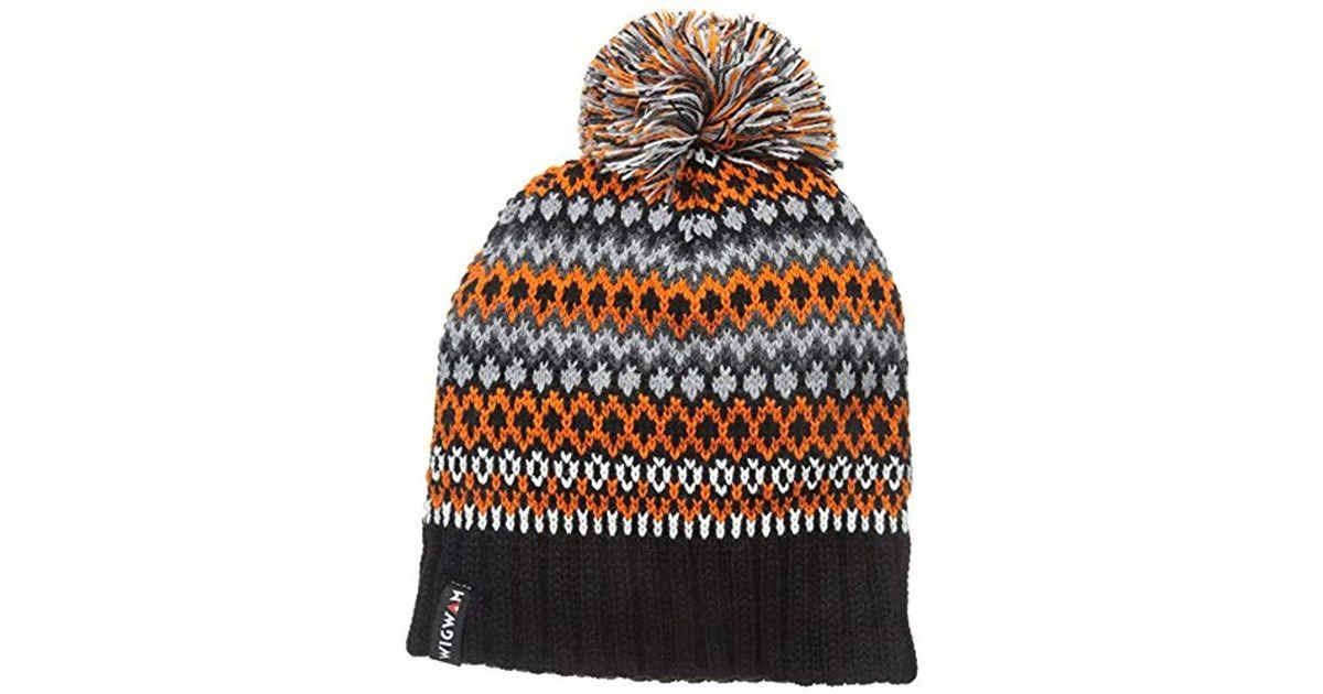 21717edef65 Lyst - Wigwam Yodel Pom Hat in Black for Men