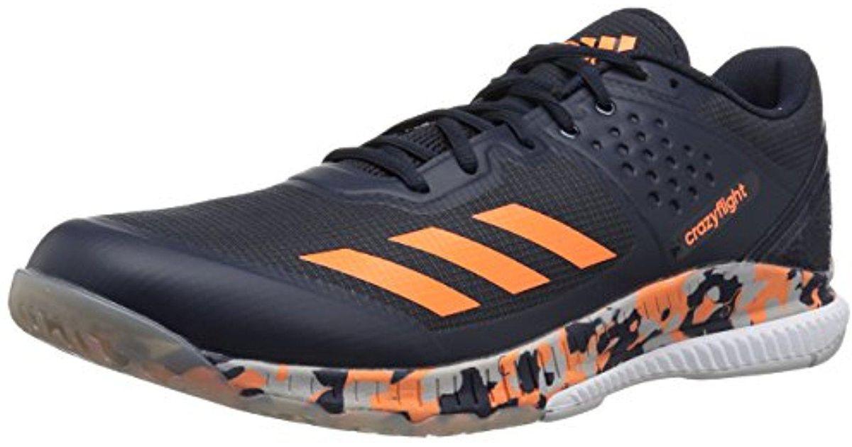 lyst adidas crazyflight rimbalzare la pallavolo scarpa in grigio per gli uomini.