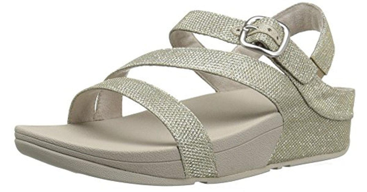 67a3b91d13463e Lyst - Fitflop The Skinny Sparkle Z-strap Sandal Flip Flop in Metallic