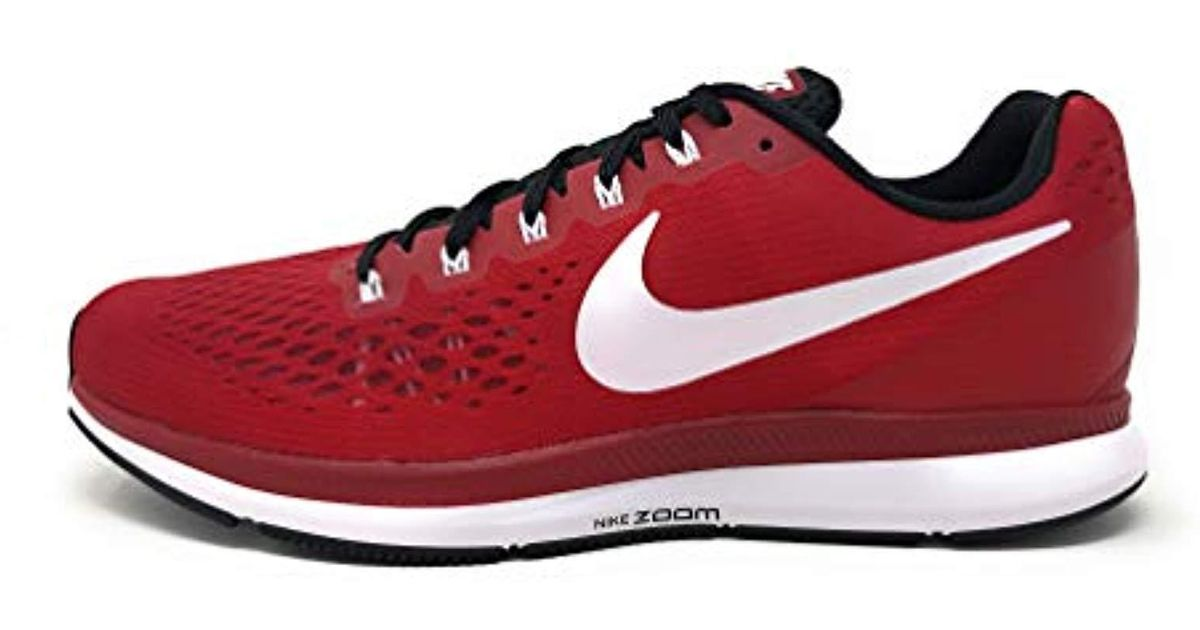 half off fab02 45588 Nike - Red Air Zoom Pegasus 34 Running Shoes for Men - Lyst
