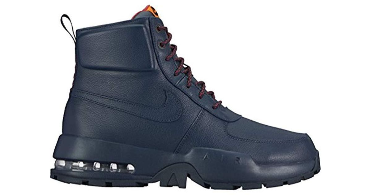 Nike Manoa Leather Hiking Boot in Blue