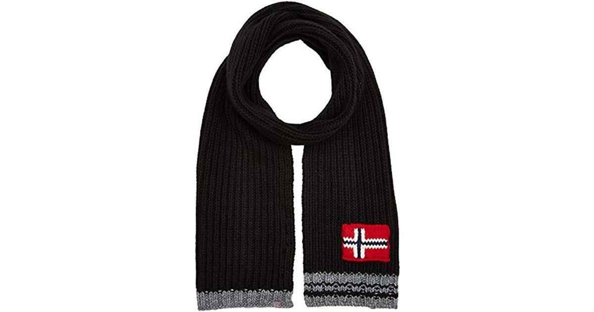 Napapijri Foreil Scarf in Black for Men - Save 17.14285714285714% - Lyst 88dfa3dc725