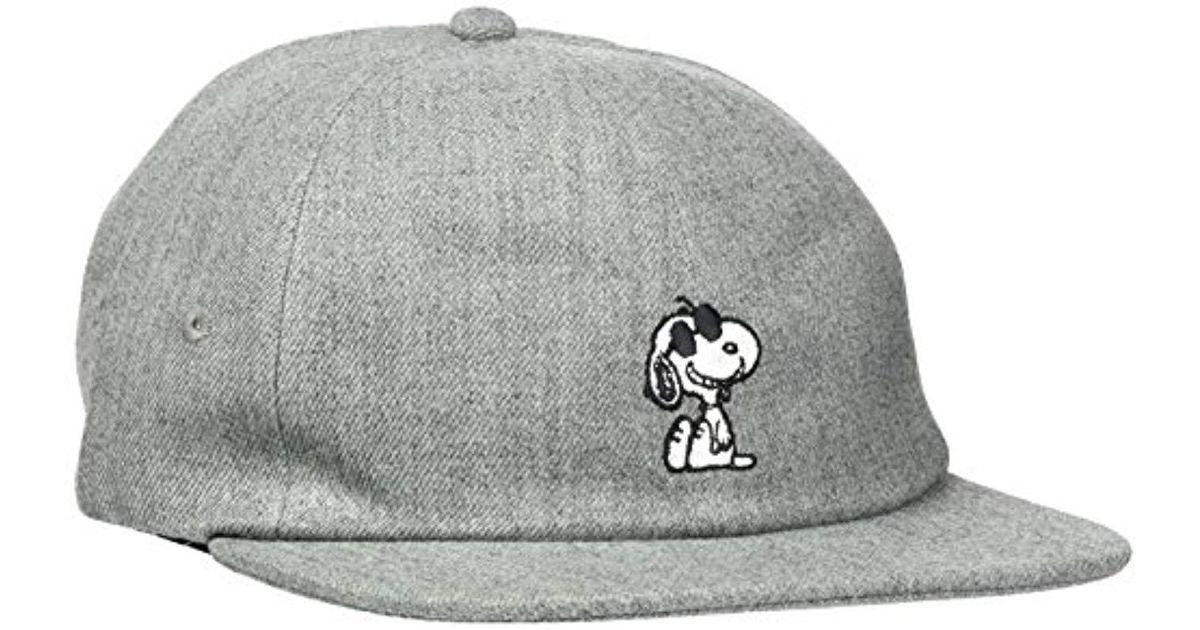 Vans X Peanuts Jockey Baseball Cap in Gray for Men - Lyst 42b4b2a7998d