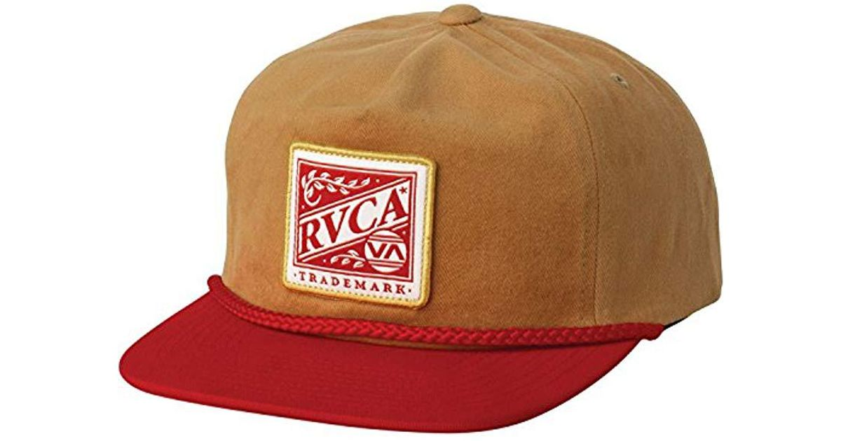 a54e511176d29 Lyst - RVCA Dawn Snapback Hat in Brown for Men