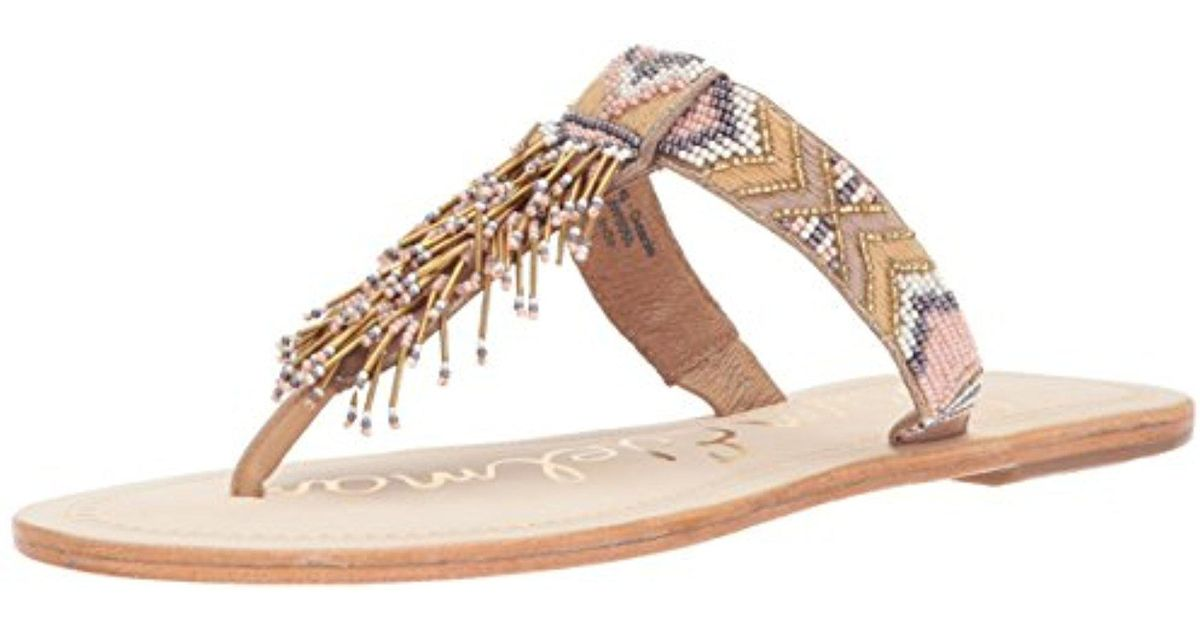d3bf2da13dcd36 Lyst - Sam Edelman Anella-1 Slide Sandal in Natural - Save 45%