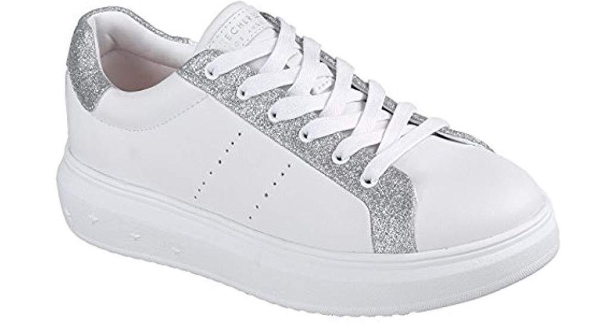 size 40 fc8c7 bd9b3 Skechers White 73695 Scarpe Donna Sneakers Stringate Platform Bianco