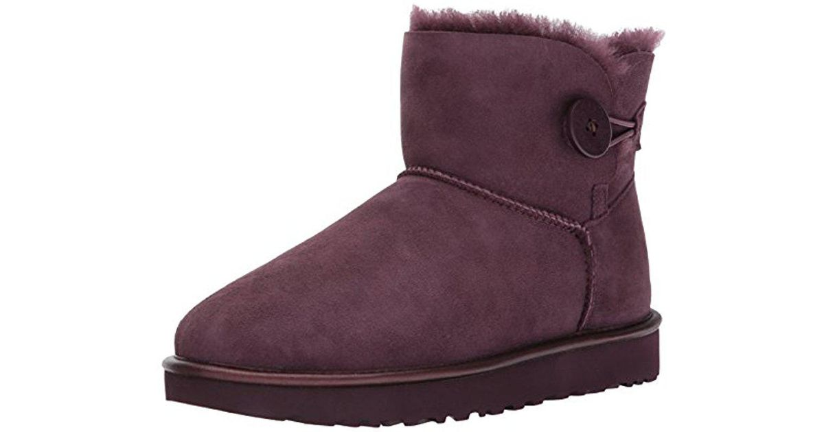 8d1a8e5646a Ugg Purple Mini Bailey Button Ii Metallic Winter Boot