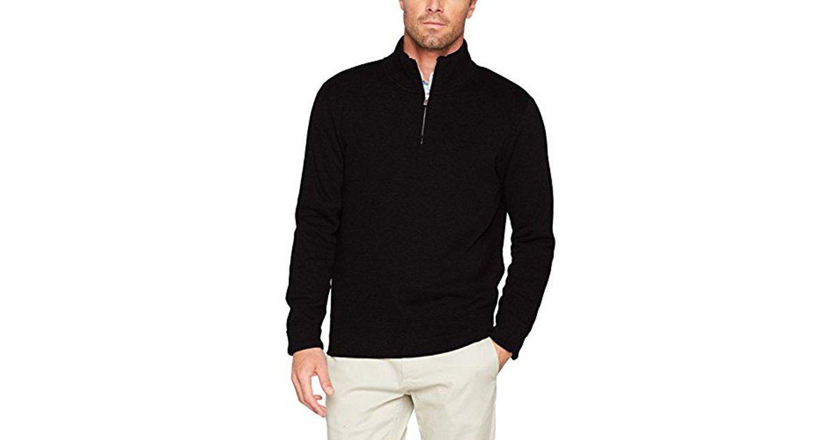 Lyst - Gant Sacker Rib Half Zip Collar Sweater in Black for Men c1770e002