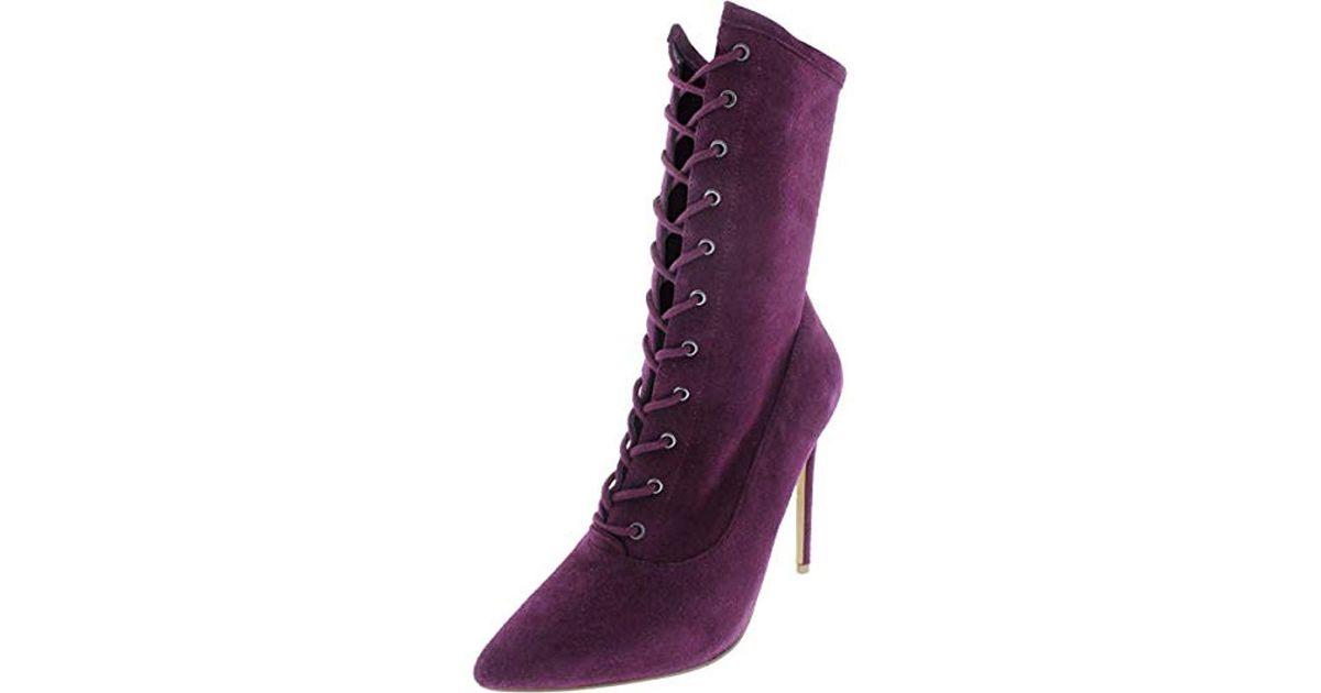 6929ecea465 Steve Madden Purple Satisfied Fashion Boot