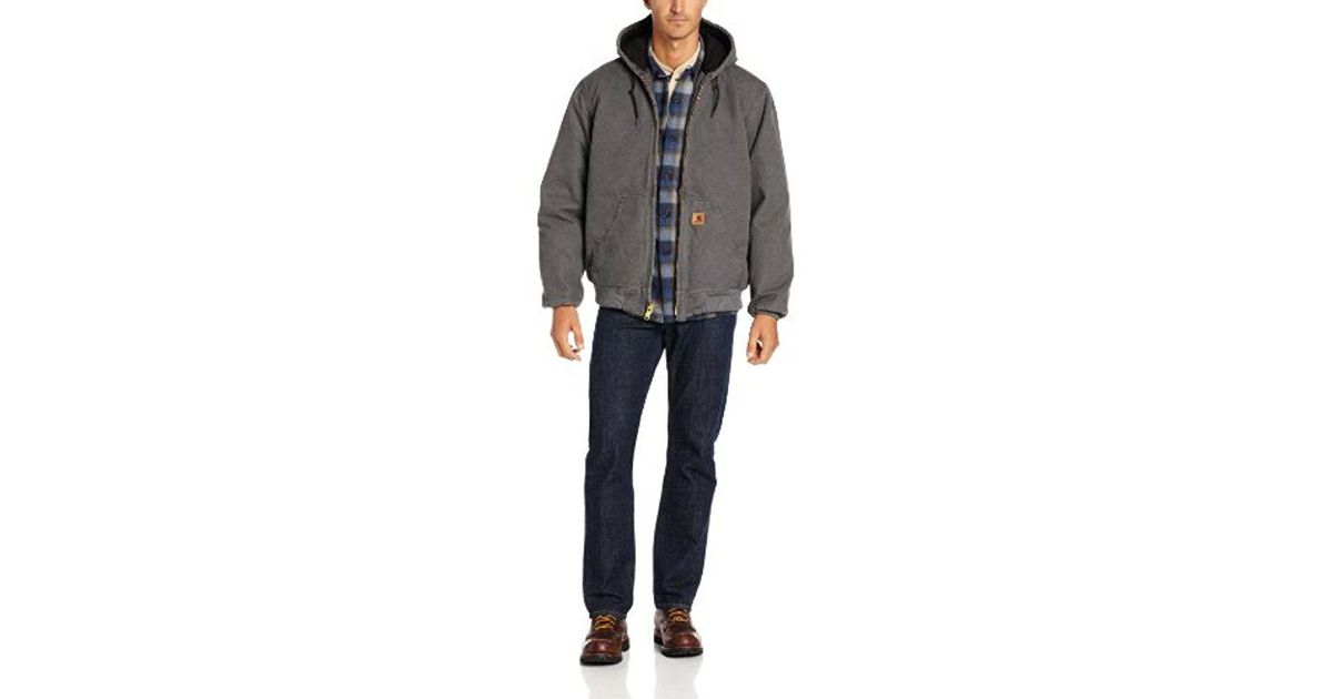 b9a0f17e32e28 Carhartt Big & Tall Quilted Flannel-lined Sandstone Active Jacket J130 in  Gray for Men - Save 9% - Lyst
