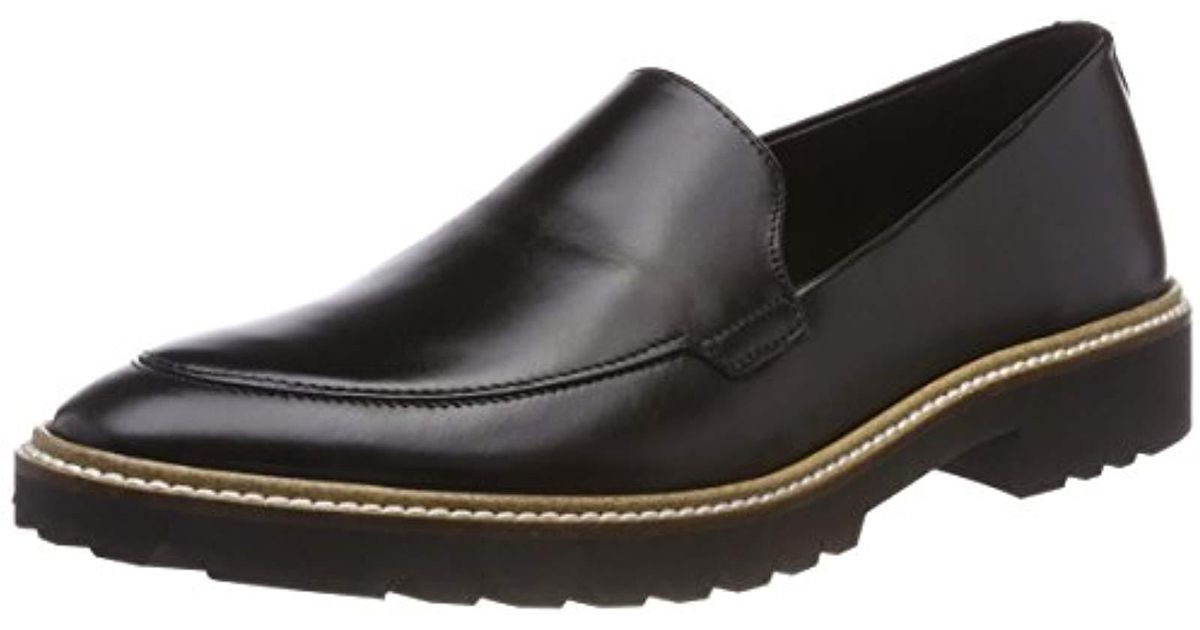 5764440f Ecco Black Incise Tailored Loafers