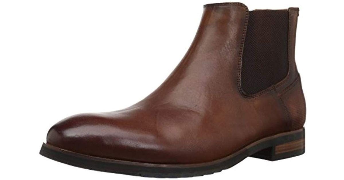 Steve Madden Brown Leston Chelsea Boot for men