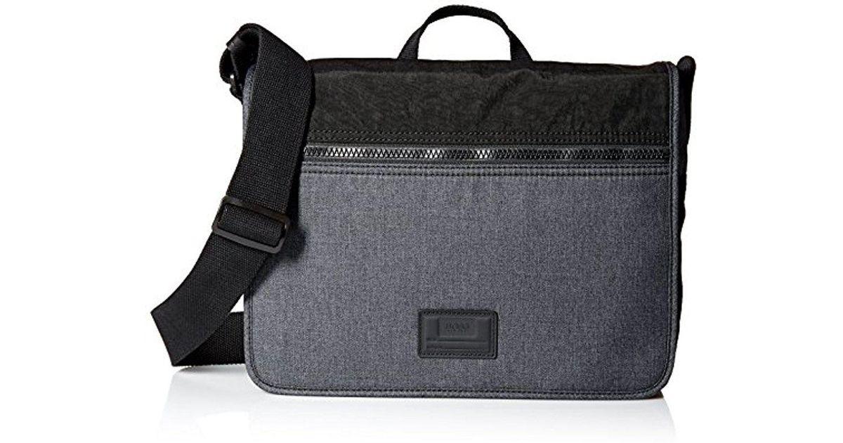 a6db32351443 Lyst - BOSS Hugo By Hybrid Polyester Nylon Mix Flap Messenger Bag in Gray  for Men