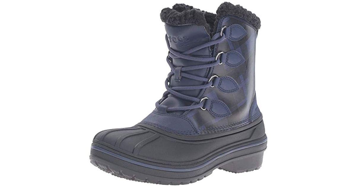edba908211478d Crocs™ Allcast2btw Snow Boot Blue in Blue - Lyst