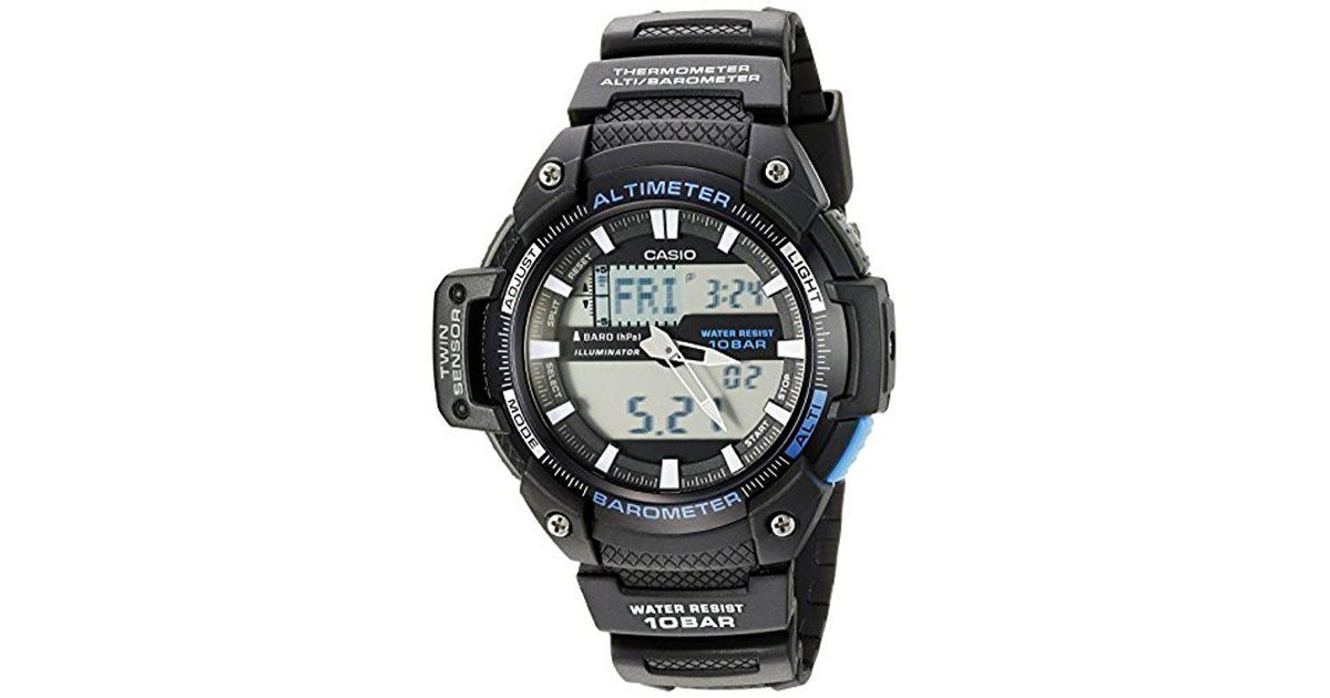 Lyst - G-Shock Sgw-450h-1acf Twin Sensor Analog-digital Display Quartz Black Watch in Black for Men