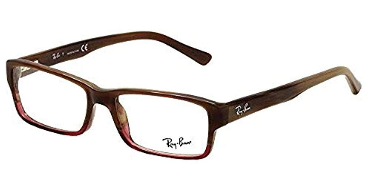 708f040322c Ray-Ban Rx5169 Glasses In Black On Transparent Rx5169 2034 52 in Brown for  Men - Lyst