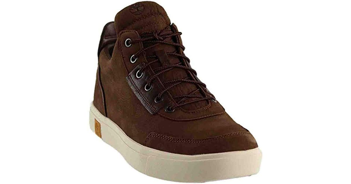 f7bb9a07 Timberland Amherst High Top Sensorflex Chukka in Brown for Men - Lyst