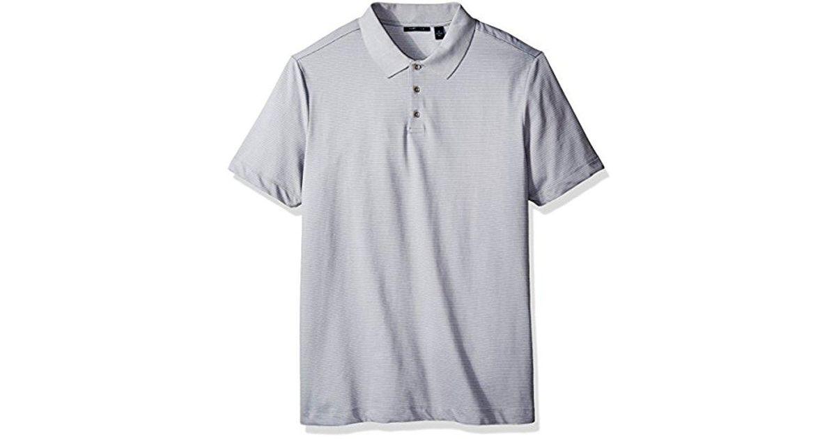 PGA TOUR NEW Men/'s Long-sleeve Birdseye Polo Shirt TEDO