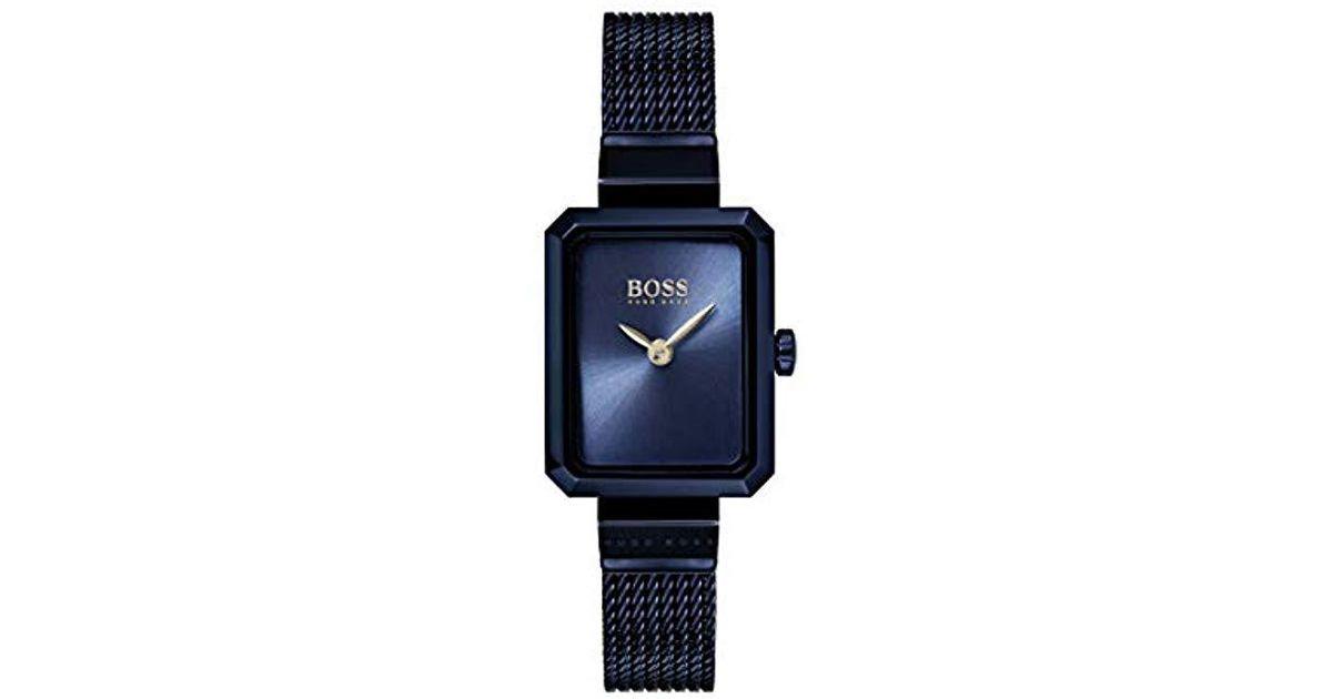 326ad4a9139a Lyst - Watch Reloj Analógico para Mujer de Cuarzo con Correa en Acero  Inoxidable 1502433 BOSS de color Azul