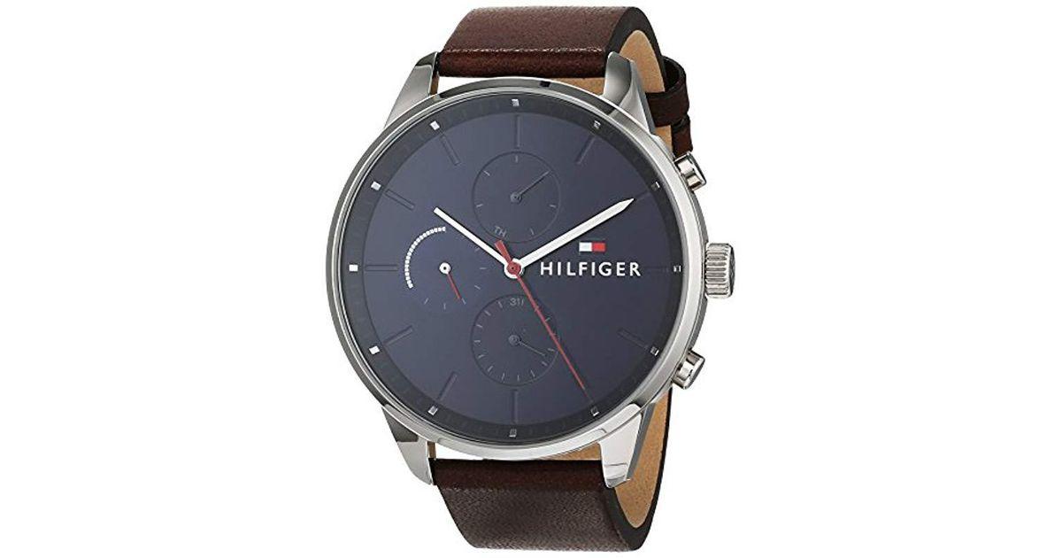 3a7fe1adc41e Reloj Multiesfera para Hombre de Cuarzo con Correa en Cuero 1791487 Tommy  Hilfiger de hombre de color Blue