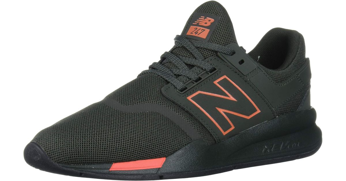 New Balance Synthetic 247 V2 Sneaker in Green/Orange (Green ...