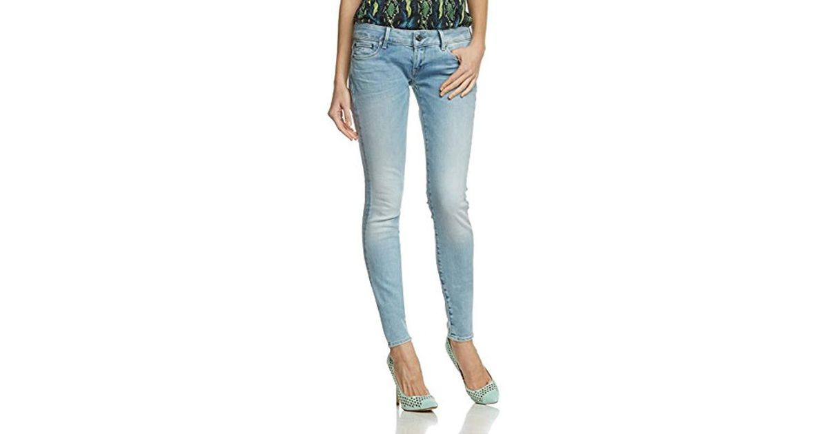 599bbe3c1e1 G-Star RAW G-star 3301 Low Nippon Stretch Super Skinny Jeans in Blue - Lyst