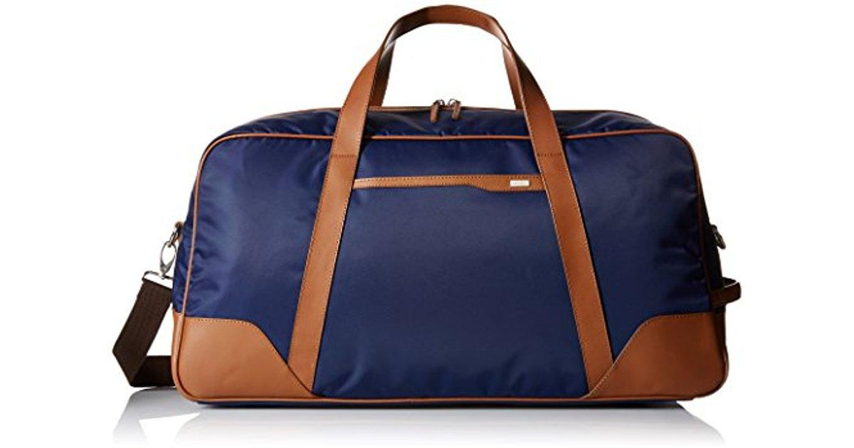 Lyst - Cole Haan Nylon 23-inch Duffle Bag in Blue for Men 63e3668db4019