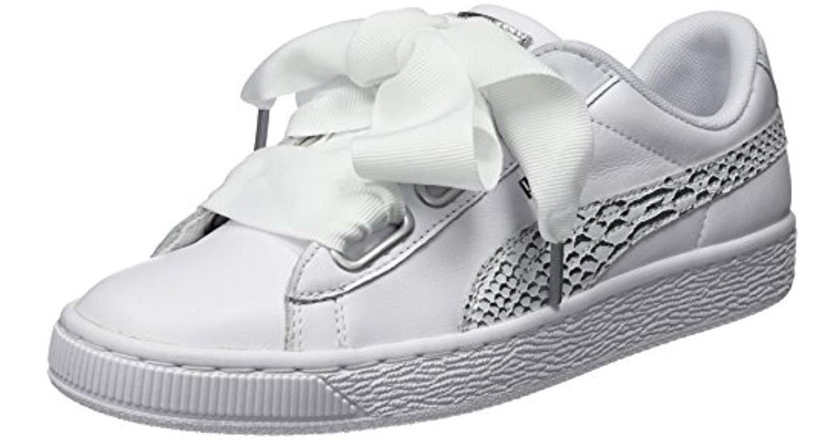 2326f53cd6303 PUMA White Basket Heart Oceanaire Wn's Trainers